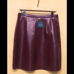 Madison Faux Leather Skirt in 'Port' NWT